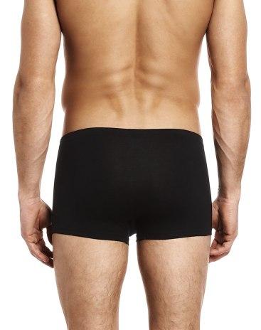 Black Cotton Seamless Men's Underwear