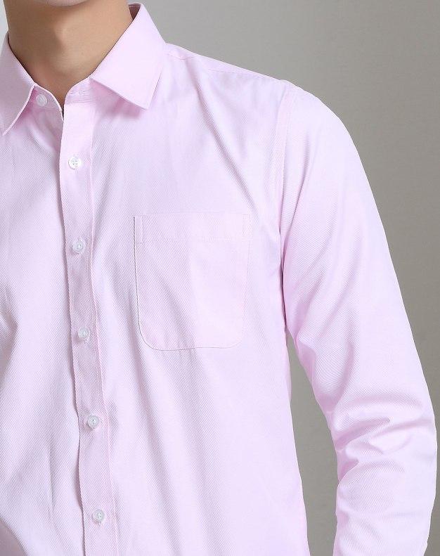 Red Plain Long Sleeve Standard Men's Shirt