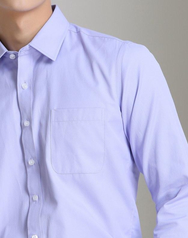Purple Plain Long Sleeve Standard Men's Shirt