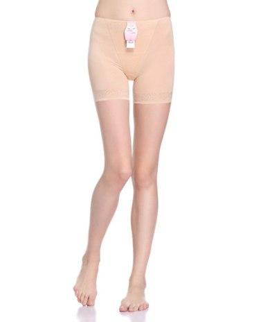 Beige Abdominal Curl Women's Shapewear Pants