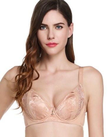 Pink Cotton Fixed Shoulder Straps Women's Bra