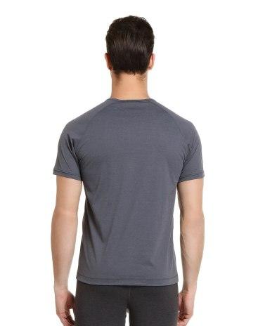 Gray Plain V Neck Short Sleeve Standard Men's T-Shirt