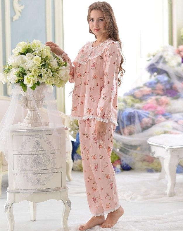 Pink Cotton Sleeve Thin Women's Loungewear