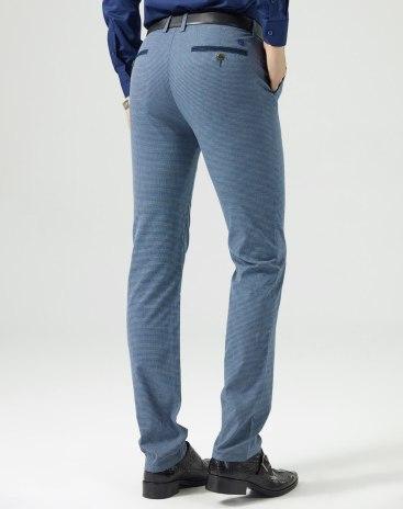 Blue Inelastic Long Men's Pants