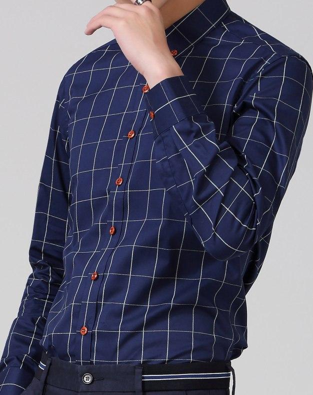 Blue Long Sleeve Standard Men's Shirt