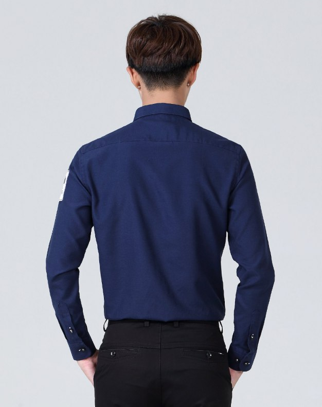 Blue Long Sleeve Standard Men's Shirt