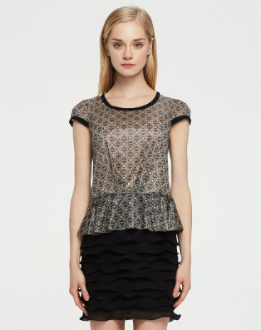 Apricot Round Neck Short Sleeve 3/4 Length Bodycon Women's Dress