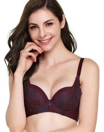 Cotton Fixed Shoulder Straps Women's Bra