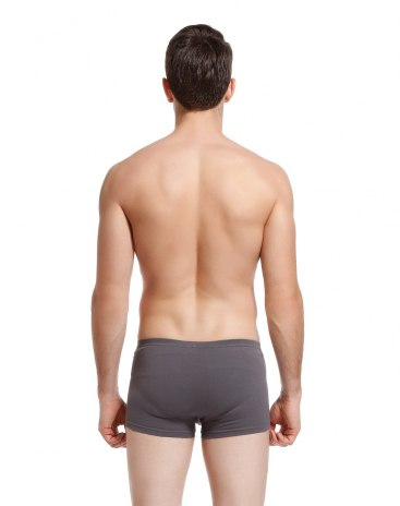 Gray Cotton Seamless Men's Underwear