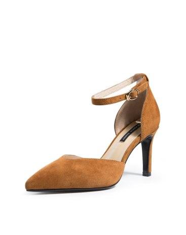 Camel Pointed High Heel Women's Pumps