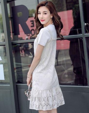 White Polyester Short Sleeve Women's Co-Ords