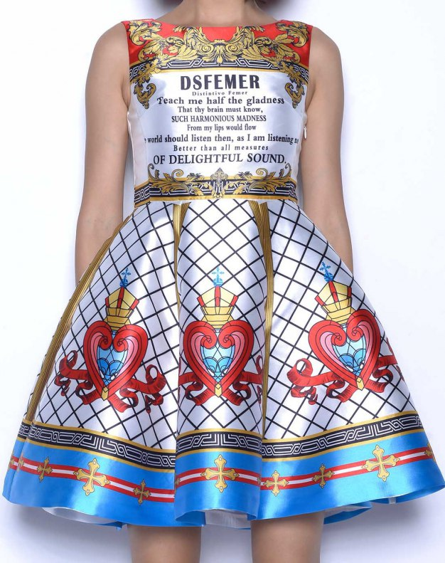 멀티컬러 민소매 기타 여성 드레스
