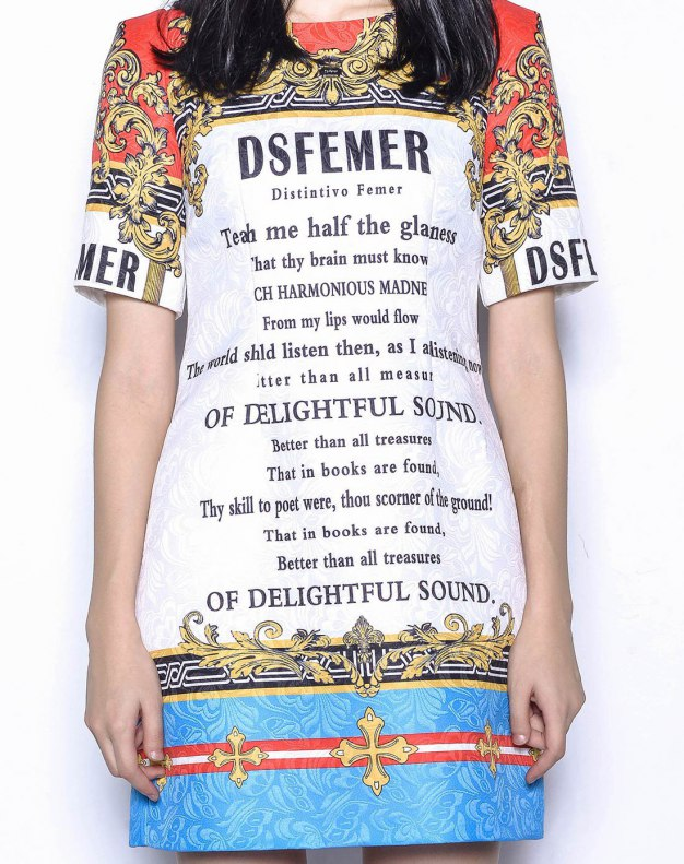 멀티컬러 반팔 티셔츠 기타 여성 드레스