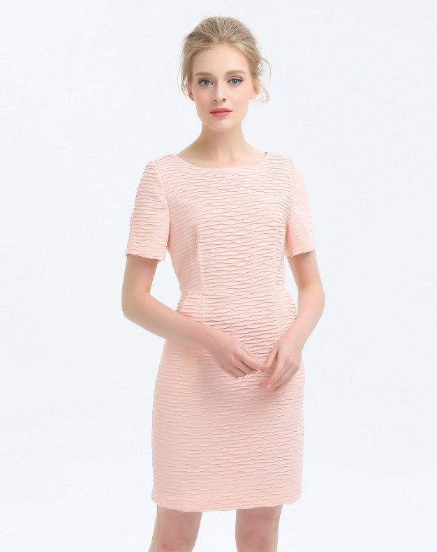 핑크 반팔 티셔츠 여성 드레스