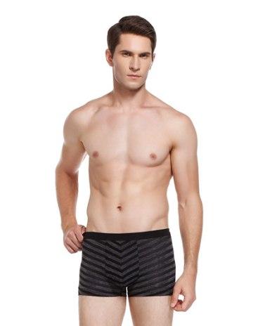 Black Polyester Seamless Men's Underwear