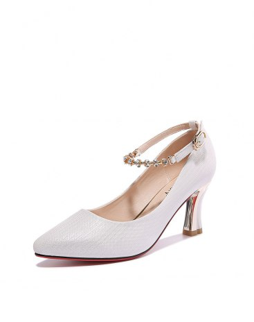 White Pointed High Heel Portable Women's Pumps