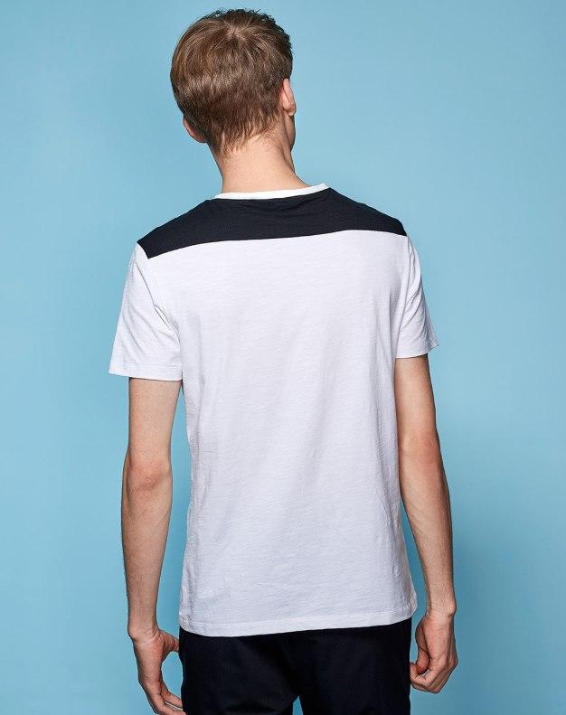 White Plain Round Neck Short Sleeve Fitted Men's T-Shirt