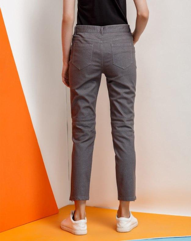 Gray Cropped Women's Pants
