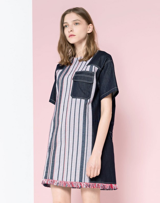 High Waist 3/4 Length Women's Dress