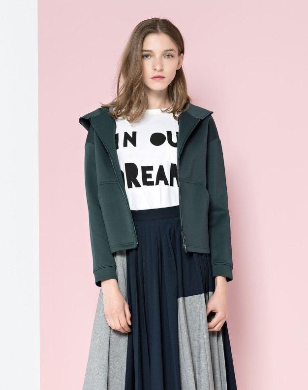 Green Long Sleeve Women's Outerwear