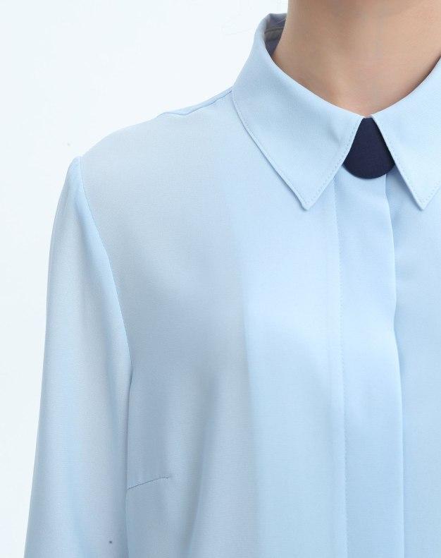 블루 여성 블라우스