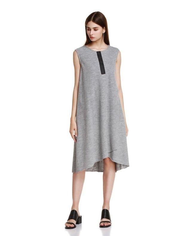 그레이 여성 드레스