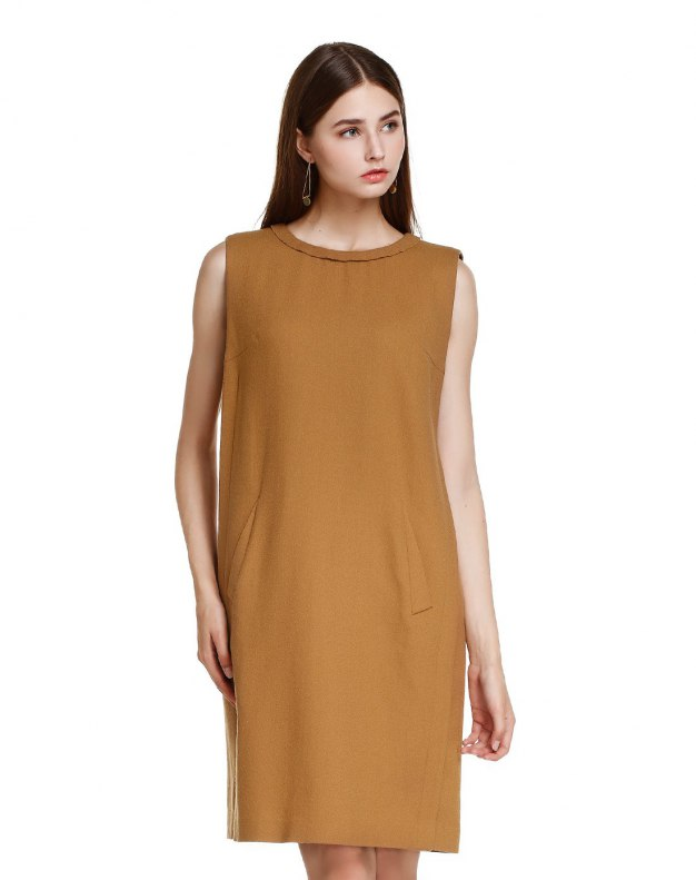 카멜 여성 드레스
