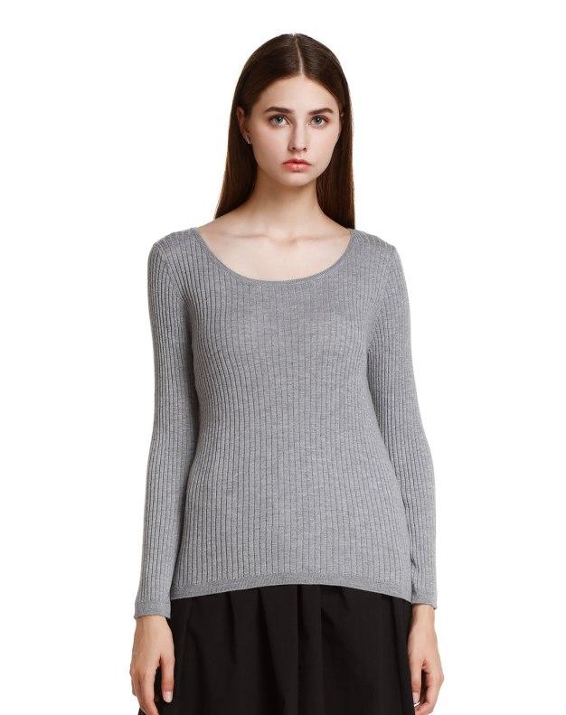 그레이 여성 스웨터