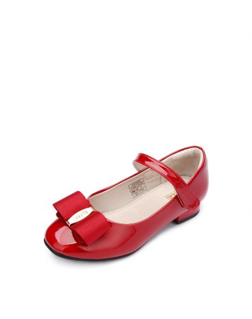 Red Girls' Leather Shoes