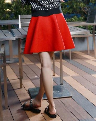 Red Women's Puff Skirt