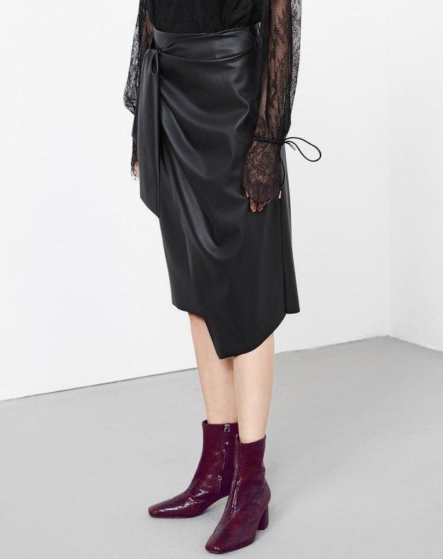 블랙 짧은 치마 여성 스커트