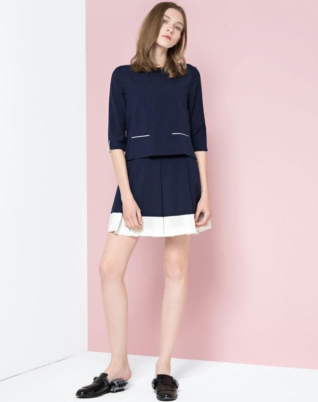 Blue High Waist Women's Dress