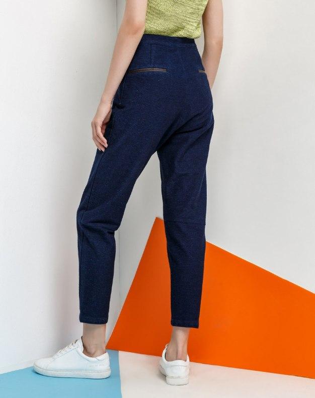 Blue Long Women's Pants