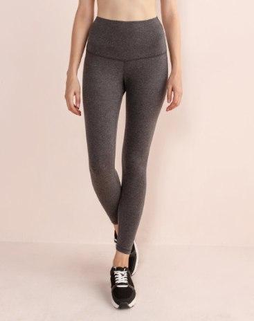 Gray Cropped Warm Women's Pants