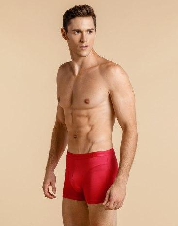 Red Cotton Seamless Men's Underwear