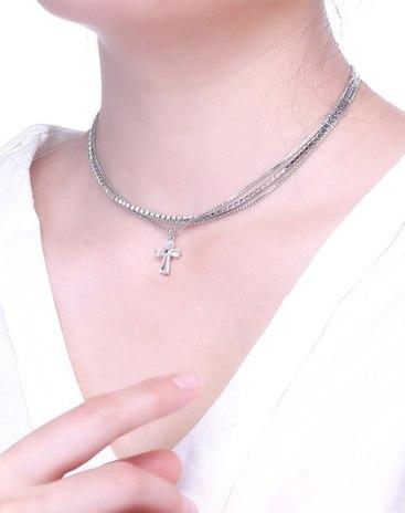 White Cross Pendant