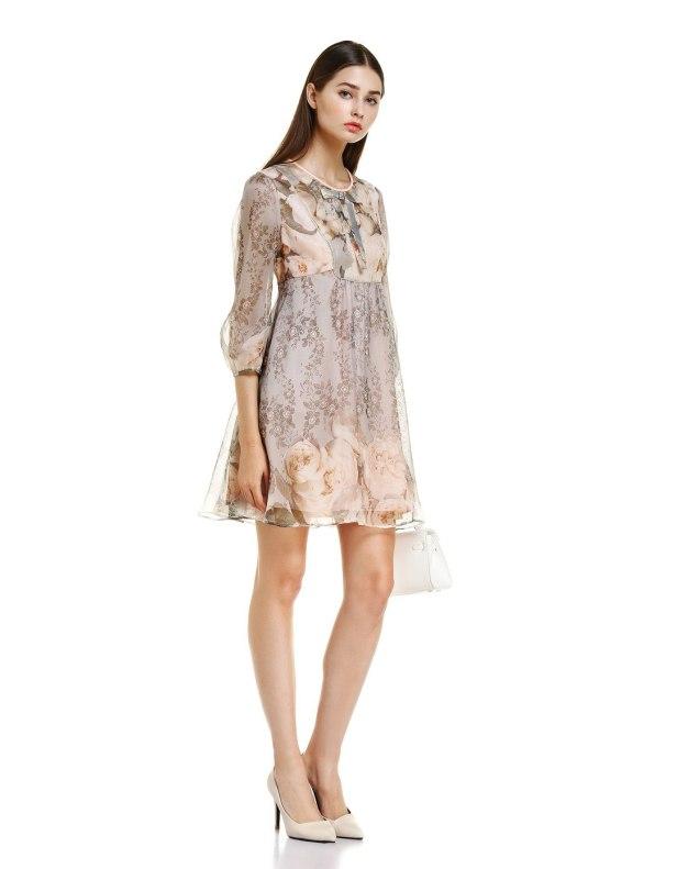 핑크 여성 드레스