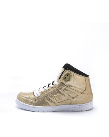 Gold High Top Anti Skidding Women's Sneakers