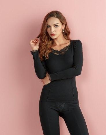 Black Upright Posture Women's Shapewear Top