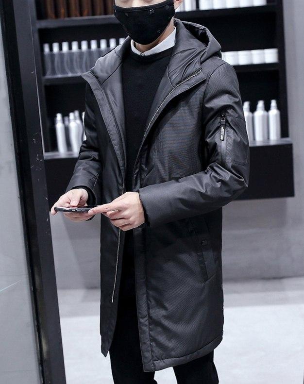 Black Standard Men's Down Coat