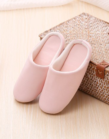 Pink Close Toe Shoes Slippers