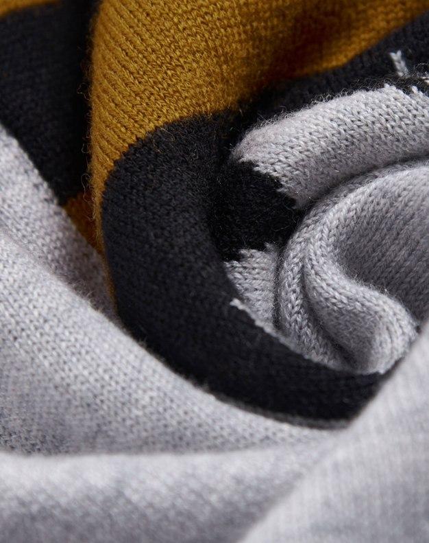 Gray Round Neck Long Sleeve Women's Knitwear