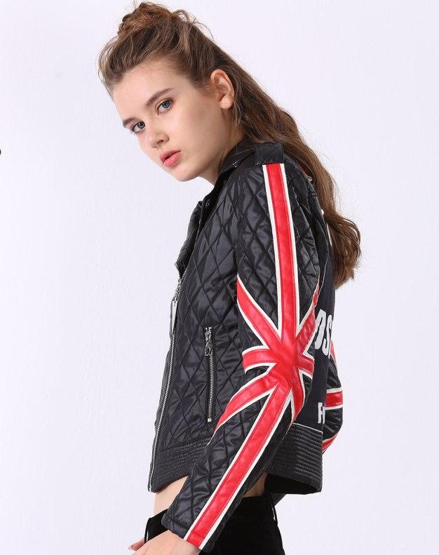 블랙 알파벳 긴소매 슬림핏 여성 스웨터