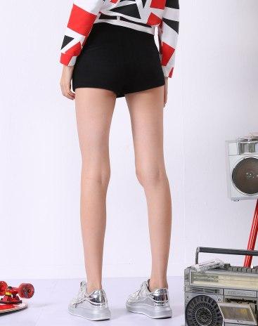 Black Low Waist Mini Women's Skirt