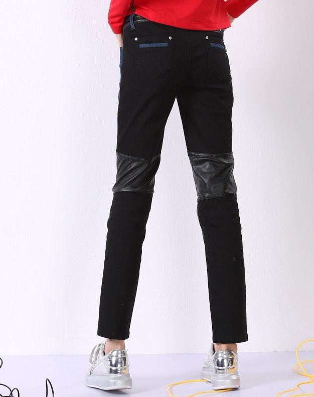 블랙 모자이크 디자인 로우웨스트 여성