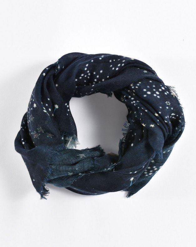 Colourful Floral Lamb Wool Scarf
