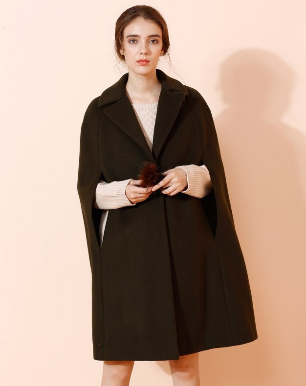 Plain Lapel Single Breasted Sleeveless Fitted Women's Coat