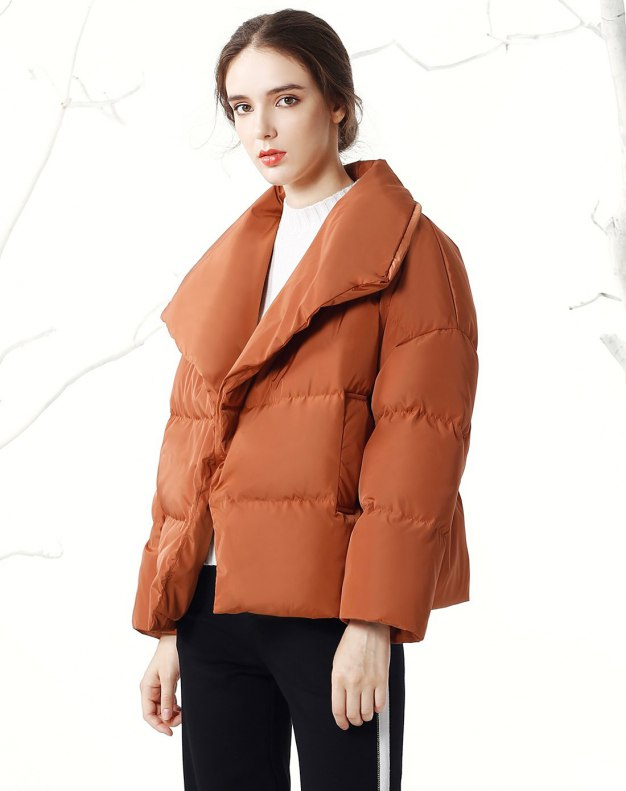 Lapel Loose Warm Women's Down Jacket