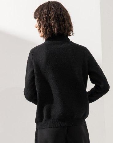 High Neck Long Sleeve Standard Women's Knitwear