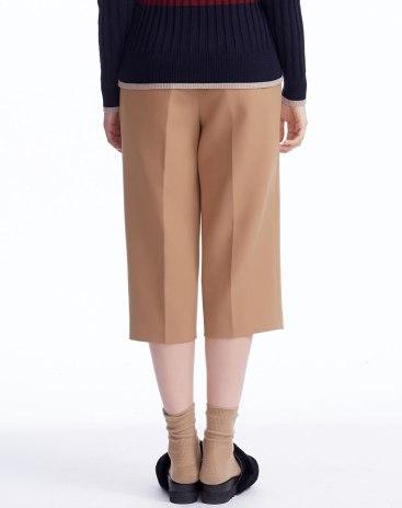 Coffee 3/4 Length Women's Pants